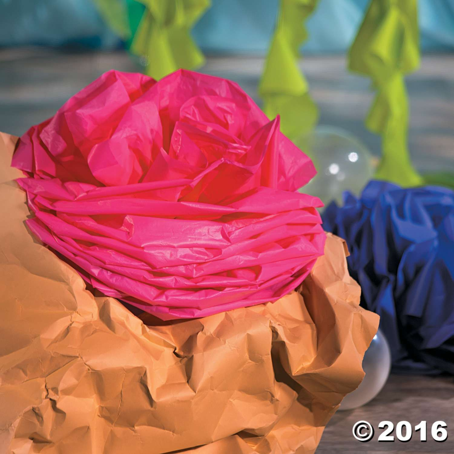 Under The Sea Tablecloth Roll Coral Decor Idea   Instructions On Oriental  Trading Co