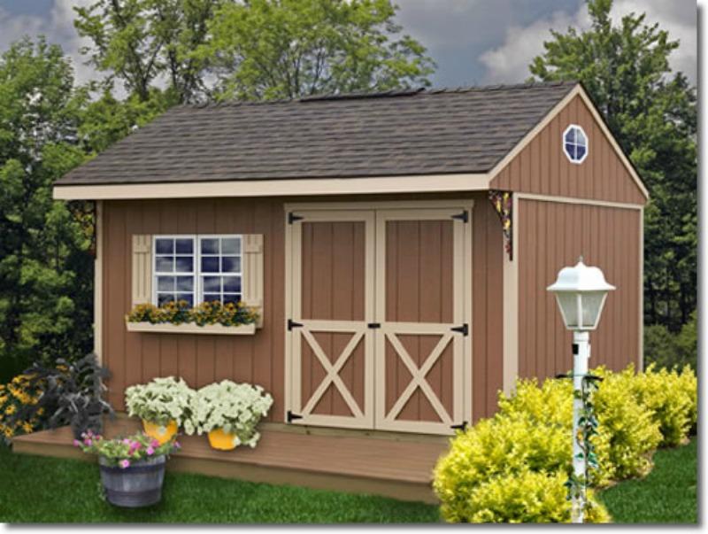 Best Barns Lakewood 12x18 Wood Storage Shed Kit Lakewood 1218
