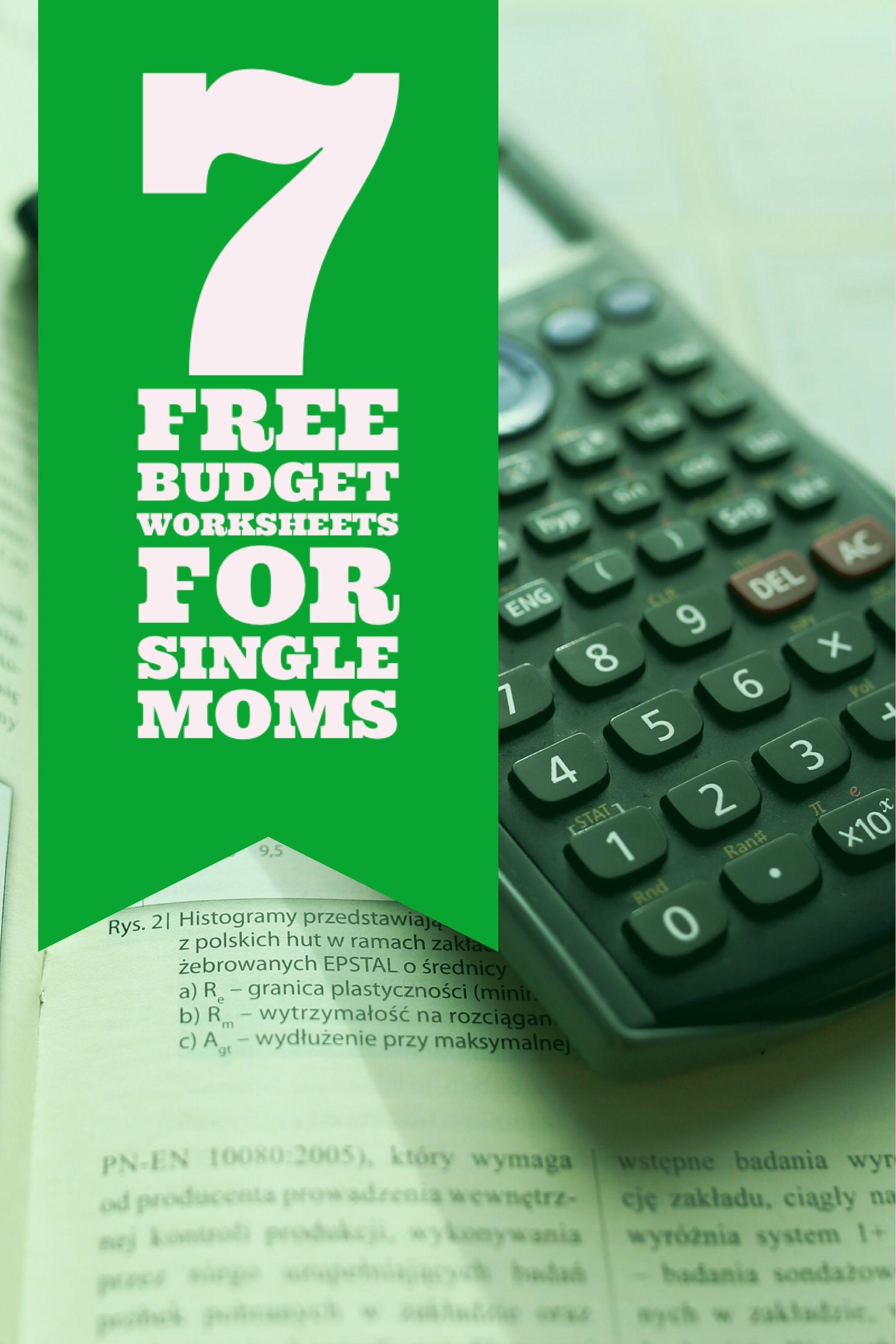 7 Free Single Mom Budget Worksheets