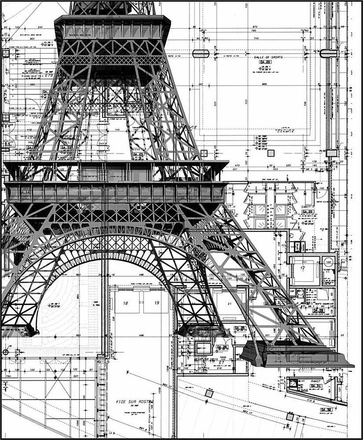 Les dessins de la tour eiffel pinterest architecture les dessins de la tour eiffel architecture blueprintsarchitecture malvernweather Images