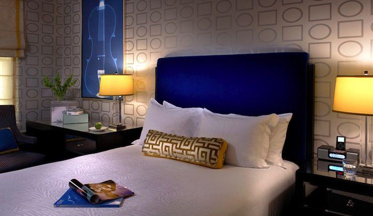 Suzie martha angus sleek modern bedroom with cobalt blue