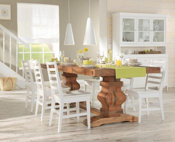 esstisch in natur aus echtholz liv dinning room pinterest tischgruppe esstische und tisch. Black Bedroom Furniture Sets. Home Design Ideas