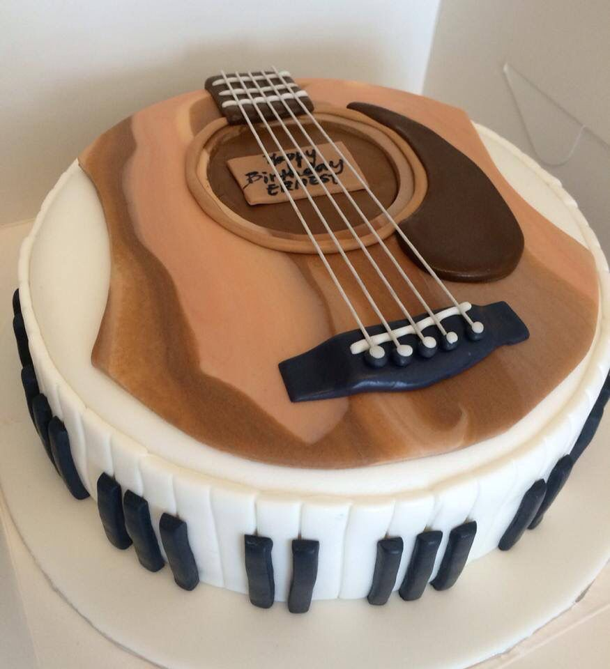 Pleasant Guitar And Piano Cake By Butter Home Bakery With Images Music Funny Birthday Cards Online Aeocydamsfinfo
