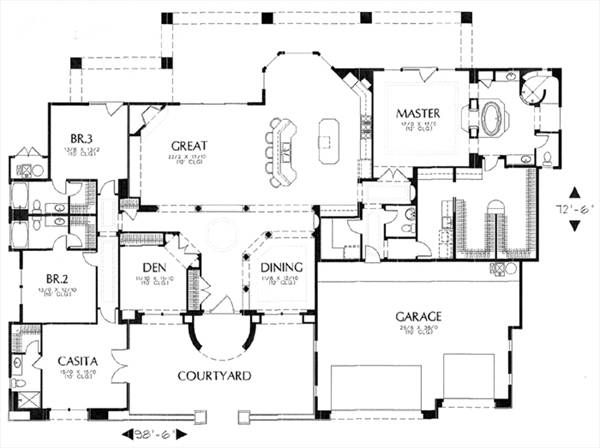 Beau House Plan This Plan Has Some Good Features I Like Jack And Jill Bath, Master  Closet Connects To Laundry Room.
