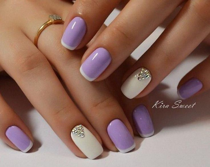images of light purple nails with white tips | Light Purple Nails With  White Tip Design Nail Art  https://noahxnw.tumblr.com/post/160769012651/hairstyle- ... - Images Of Light Purple Nails With White Tips Light Purple Nails