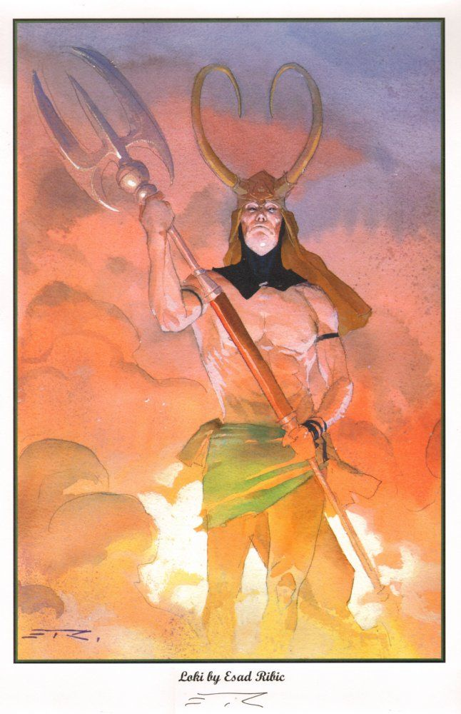 Anthony's Comic Book Art For Sale Artwork Loki with