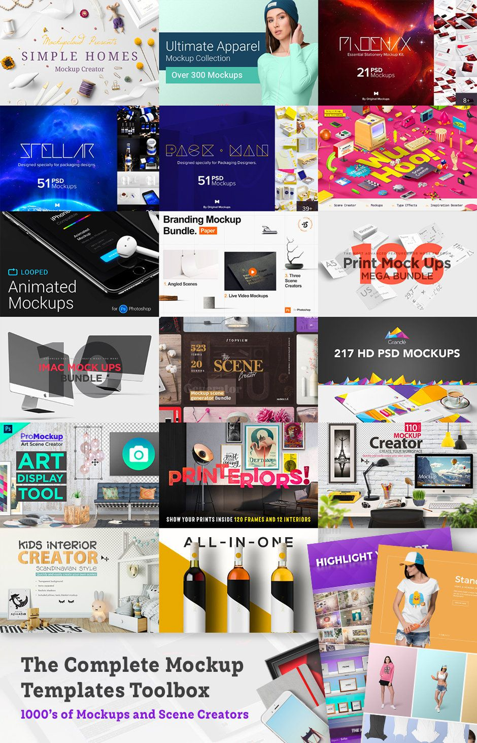 The Complete Mockup Templates Toolbox — 99 Off, Limited