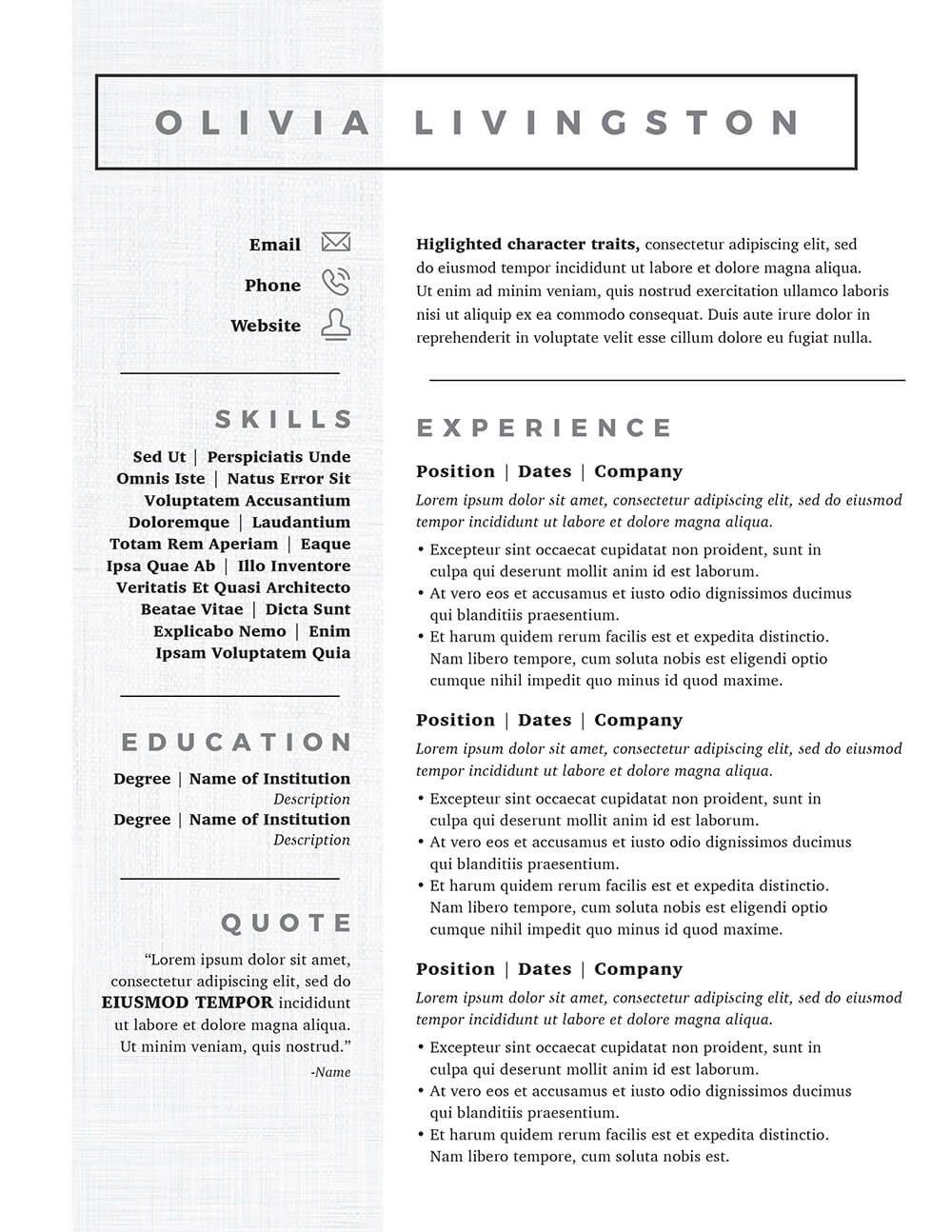 Resume Templates Kickass ResumeTemplates