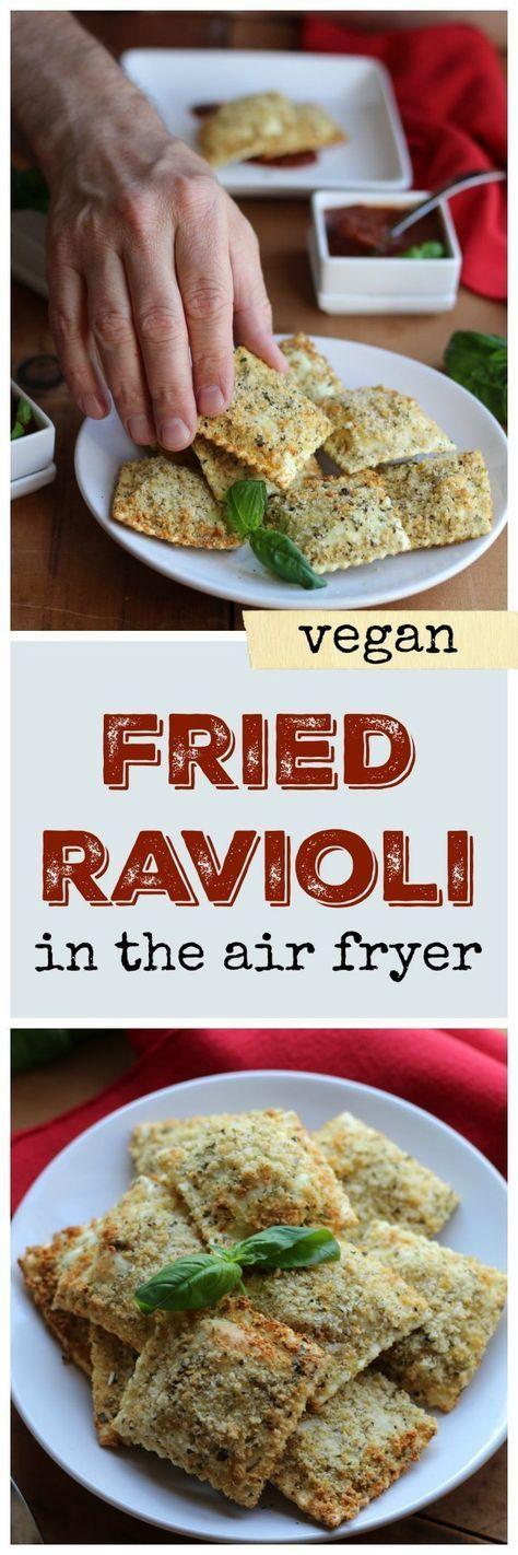Vegan Fried Ravioli In The Air Fryer