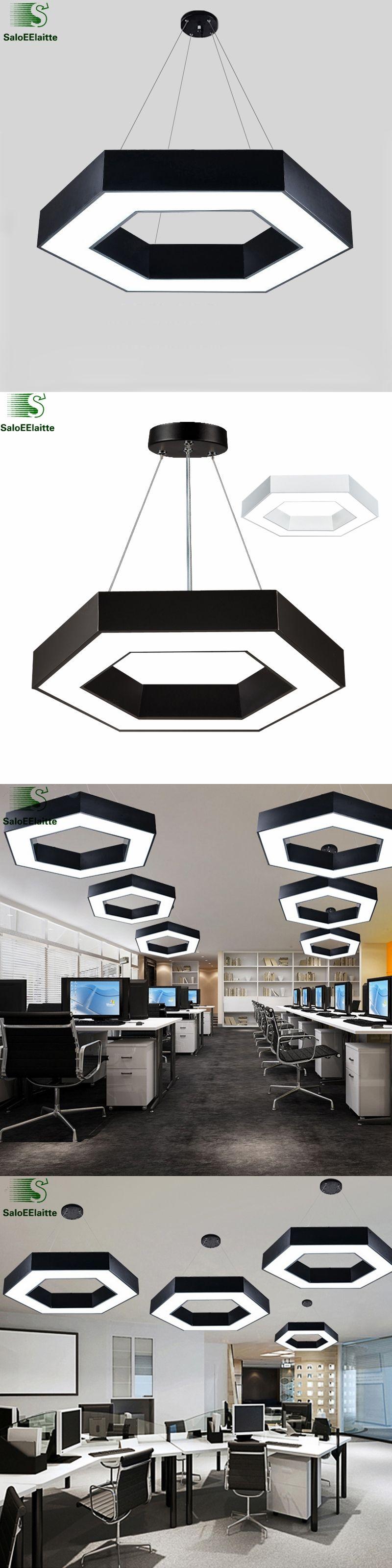 office hanging lights. Modern Office Hexagon Led Pendant Light Minimalism Metal Fixtures Luminaria Lampares Hanging Suspension Lights