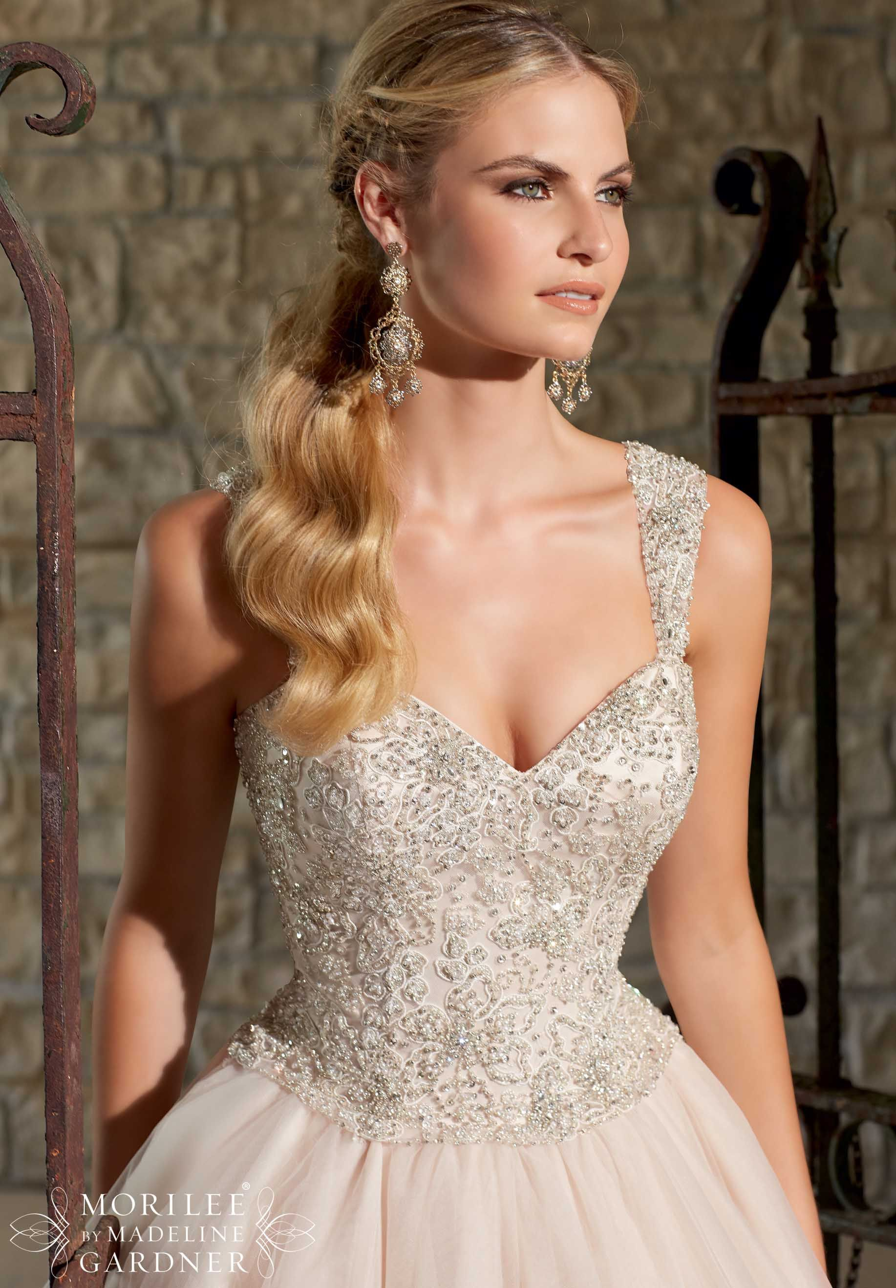 Bridal gowns dresses style tulle ball gown with intricately