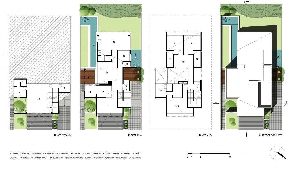 El programa arquitect nico quedar a distribuido en 3 for Vivienda minimalista planos