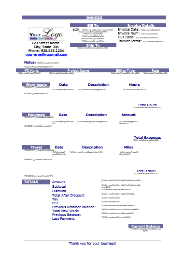 Business Invoice Template  Templates