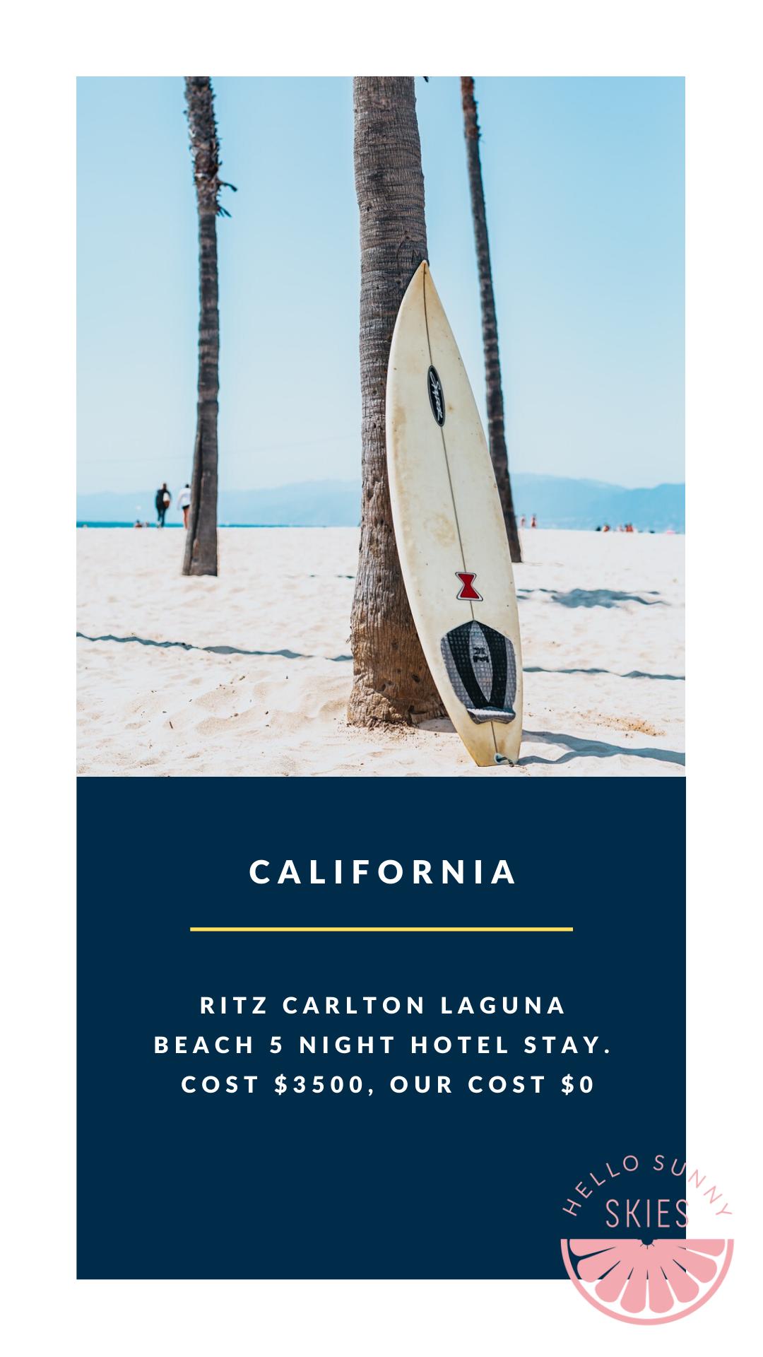 California Travel Hacked 5 Nights Free At The Ritz Carlton Laguna Free Travel Laguna Beach Free Travel Ritz Carlton Laguna