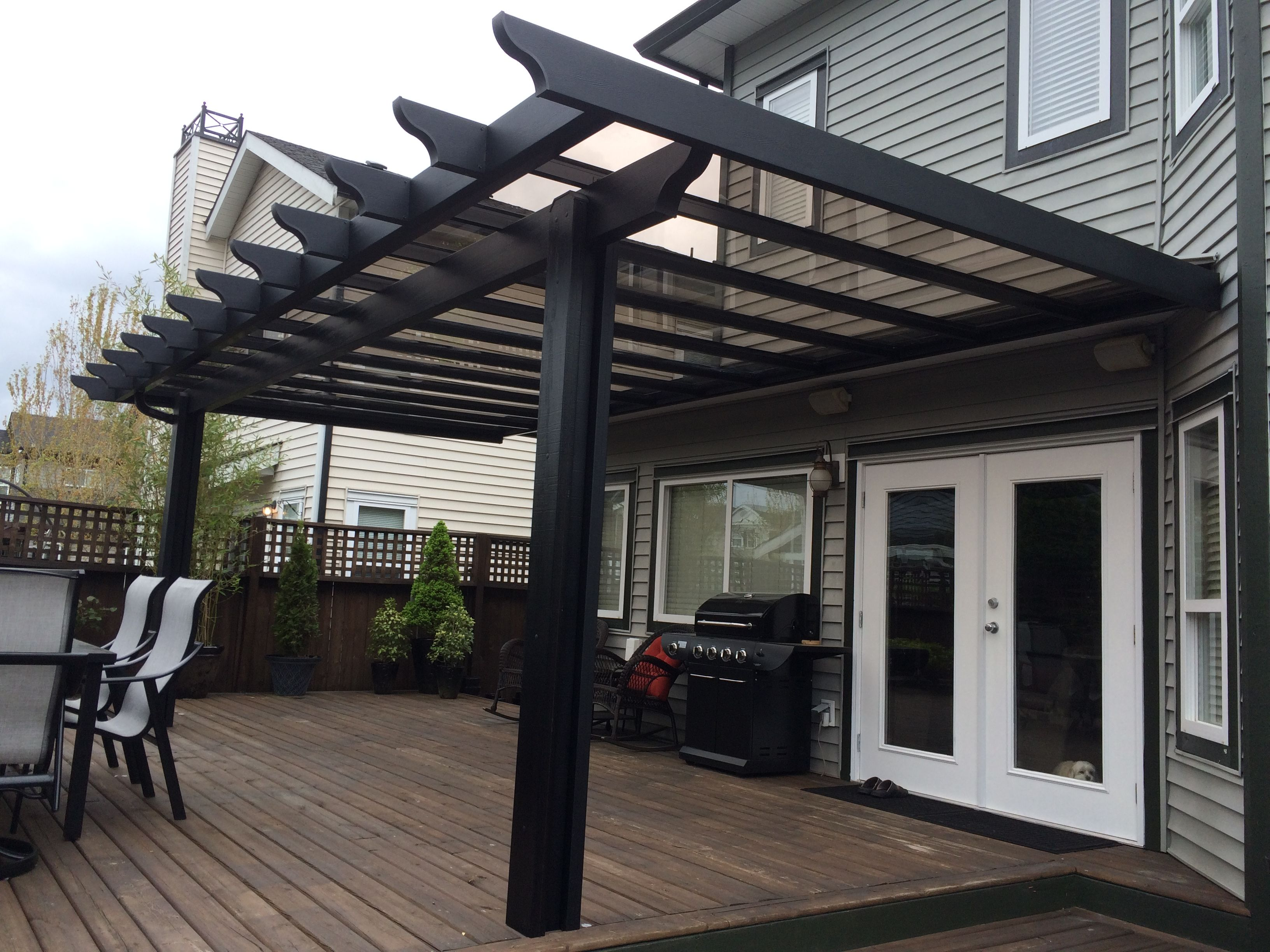 Black Pergola Glass Roof In 2019 Pergola With Roof