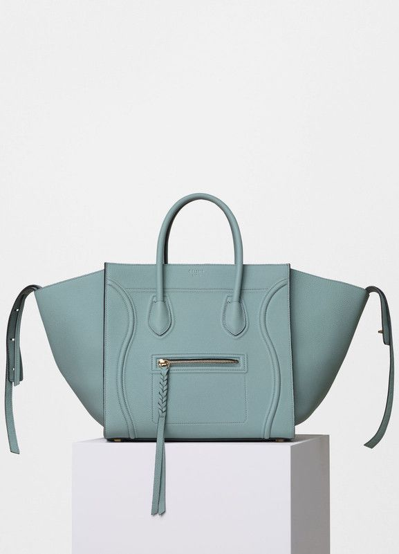 ba064210586d Medium Luggage Phantom Handbag in Baby Grained Calfskin - Céline ...