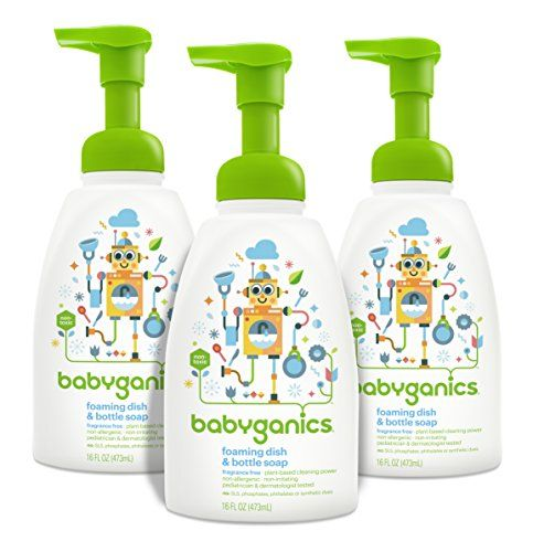 Babyganics Foaming Dish And Bottle Soap Fragrance Free 16oz Pump