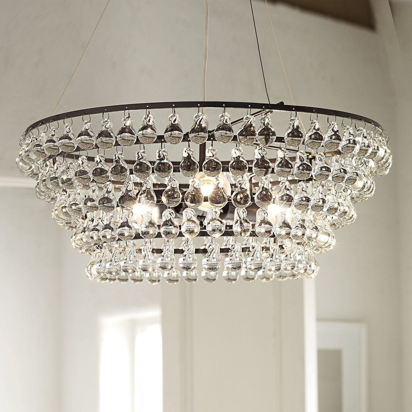 Home Accessories Lighting Solid Gl Orb Ceiling Light From The White Company