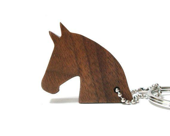 Horse Head Key Chain Wood Scroll Saw Silhouette Western Pony Farm Animal  Outline Horse Key Fob a0af81419