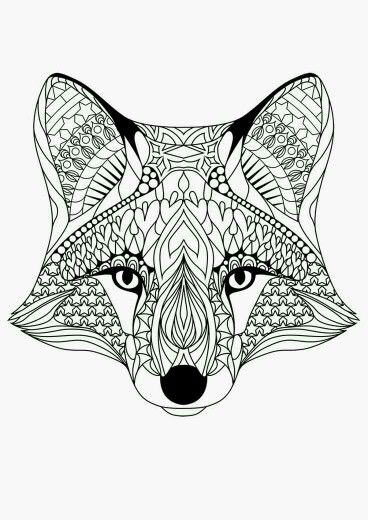 Fox Coloring Page Printables Mandala Coloring Pages