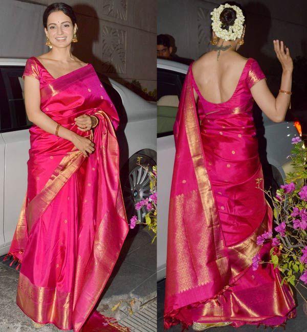 Kangnaranuat Wears A Gajra In Hair Saree Blouse Designs Saree Dress Indian Sarees
