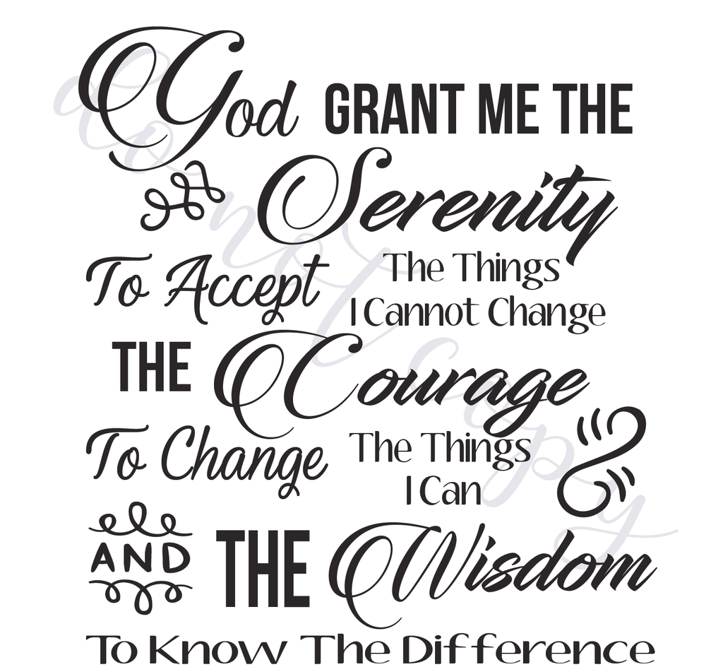 picture relating to Serenity Prayer Printable identify Serenity Prayer Electronic Vector Information, Immediate Down load for