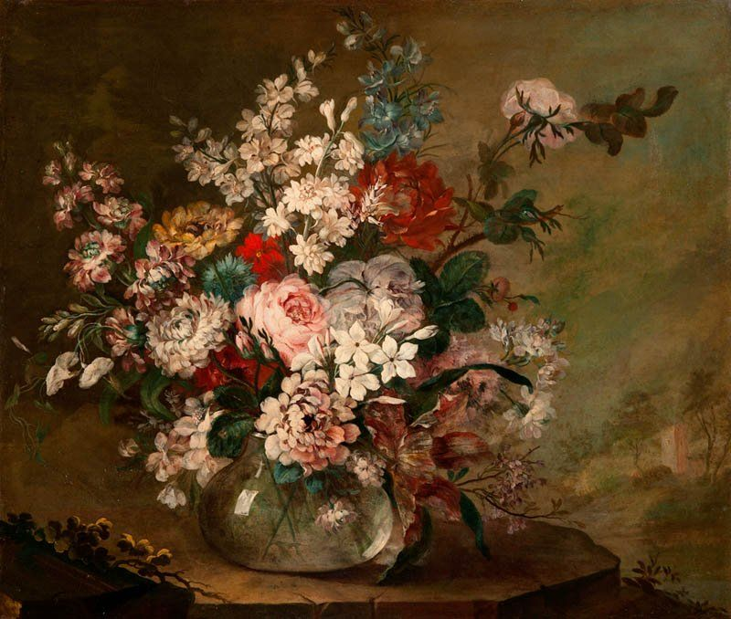 Still Life with Flowers in a Vase, Juan Bautista Romero