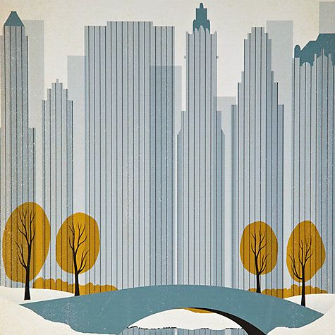 Buy Anonymous - Central Park Framed Print, 65 x 52cm Online at johnlewis.com