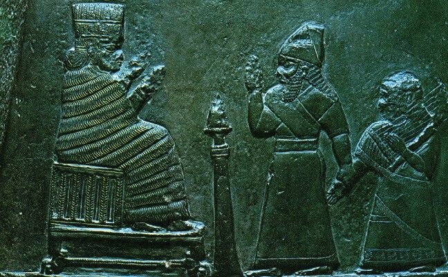 Kudurru, chamada de Melisipak II, Arte babilônica, Museu do Louvre, Paris.
