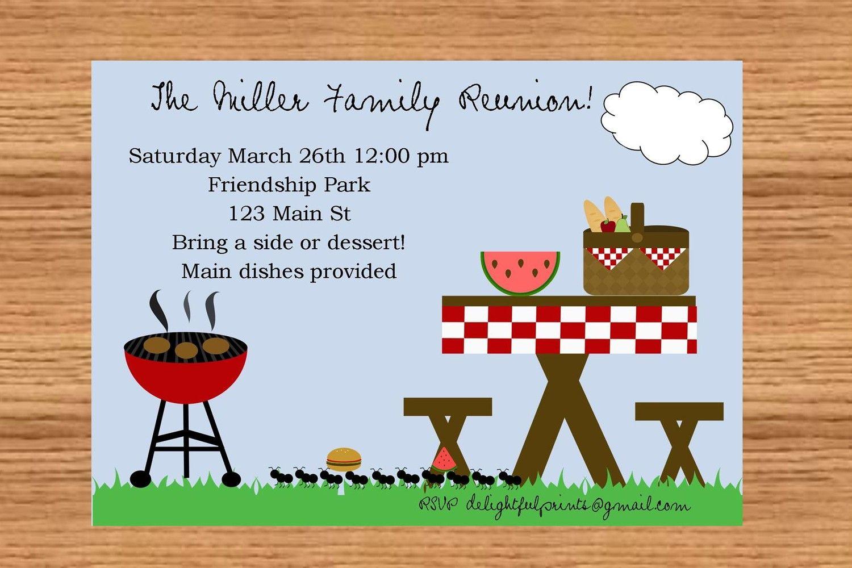 Picnic Bbq Google Search Picnic Invitations Invitation Template Party Invite Template Free family reunion flyer templates