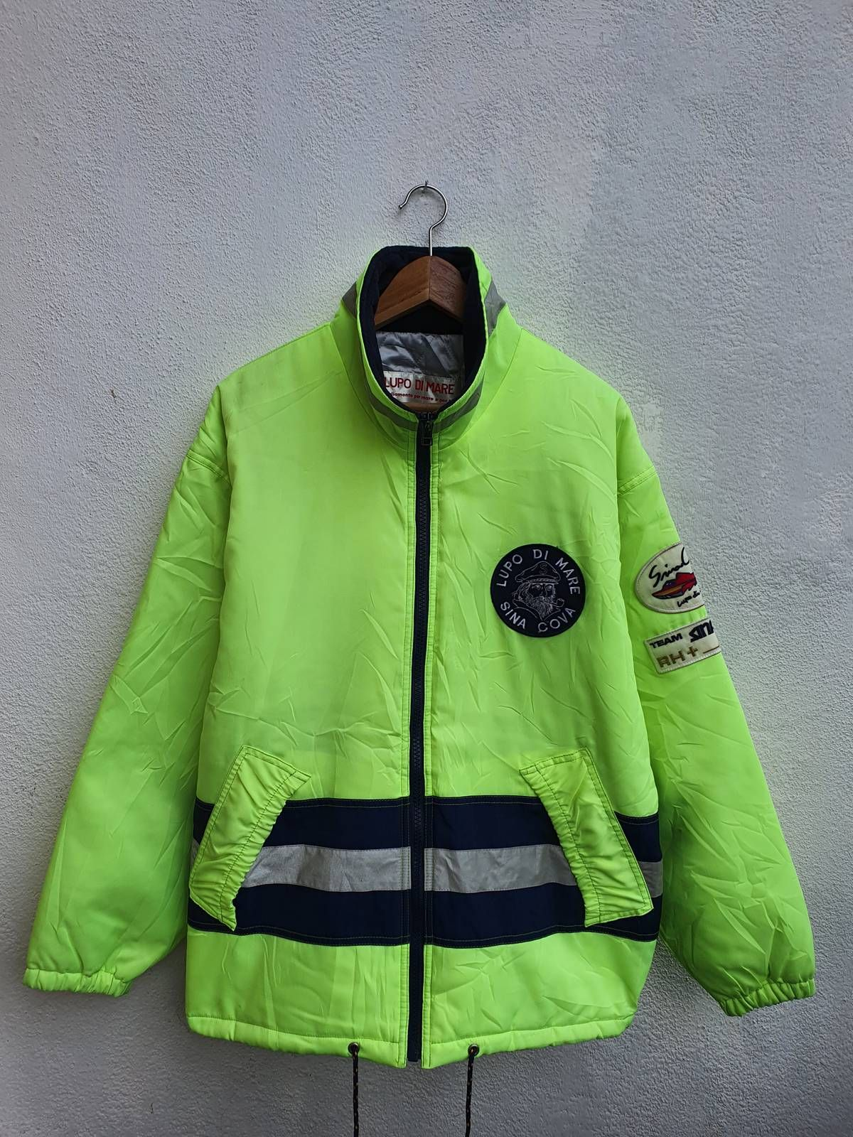 Japanese Brand Very Rare Vintage Lupo Di Mare Sina Cova Neon Rh Team Jacket Size L 261 Team Jackets Jackets Outerwear [ 1600 x 1200 Pixel ]