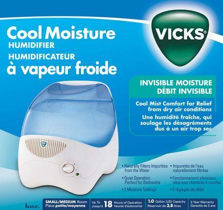 Vicks Cool Mist Evaporative Humidifier Walmart Ca Humidifier Vicks Mists