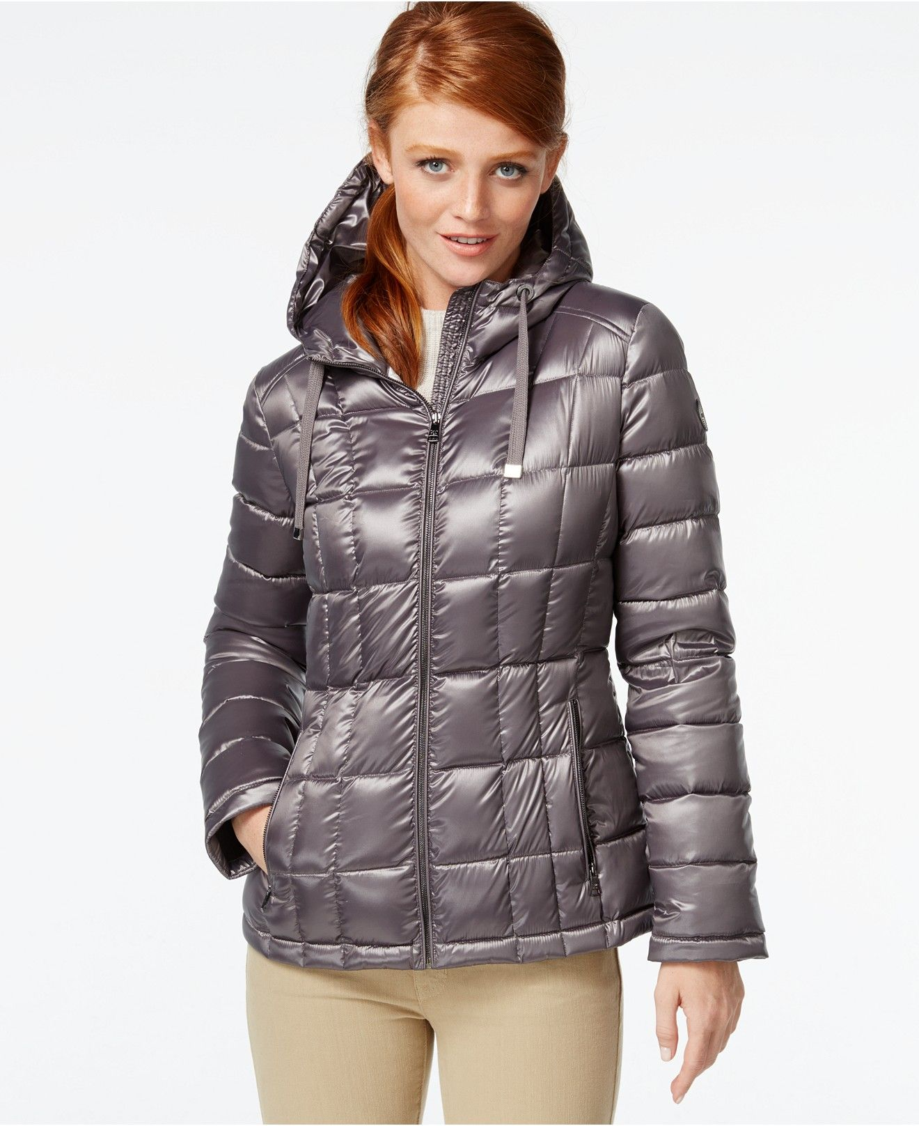 9f63a138fdb1 Calvin Klein Metallic Packable Down Puffer Coat - Coats - Women - Macy's