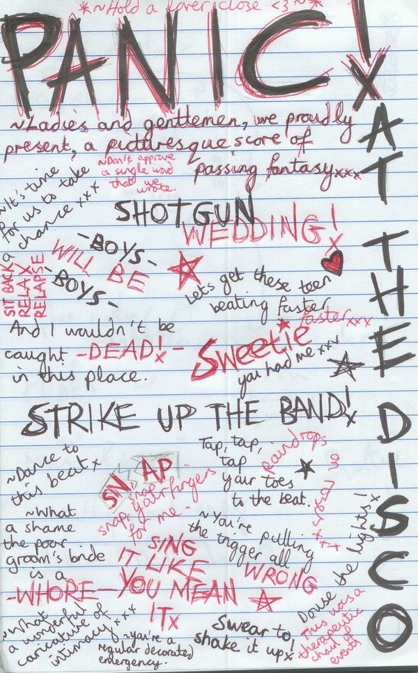 PATD!!! A fever you can't sweat out- lyrics from all the songs on ...