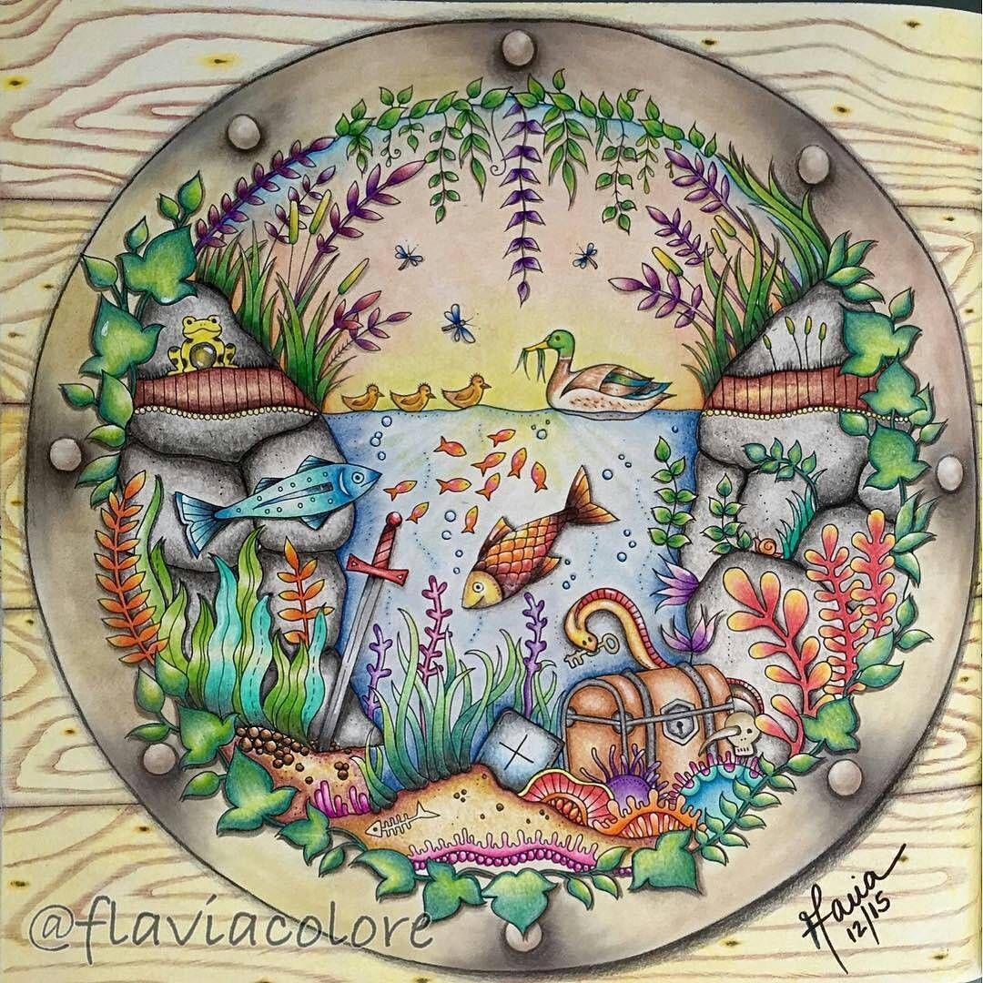 Lindo colorido!!!! @Regrann from @flaviacolore -  #florestaencantada #enchantedforest  #johannabasford #colorindo #livrodecolorir #coloring #colorido #artecomoterapia #colorir #coloringbookforadults #Regrann