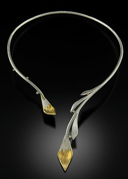 Photo of Gold & Sliver Vine Necklace by Rosario Garcia (Gold, Silver & Stone Necklace)