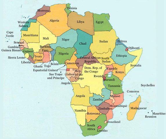 africa map today