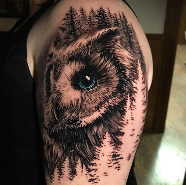 Schnee Eule Tattoo