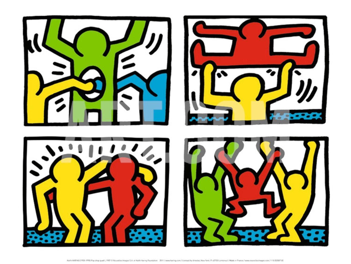 Pop Shop Quad I C Art Print By Keith Haring At Art