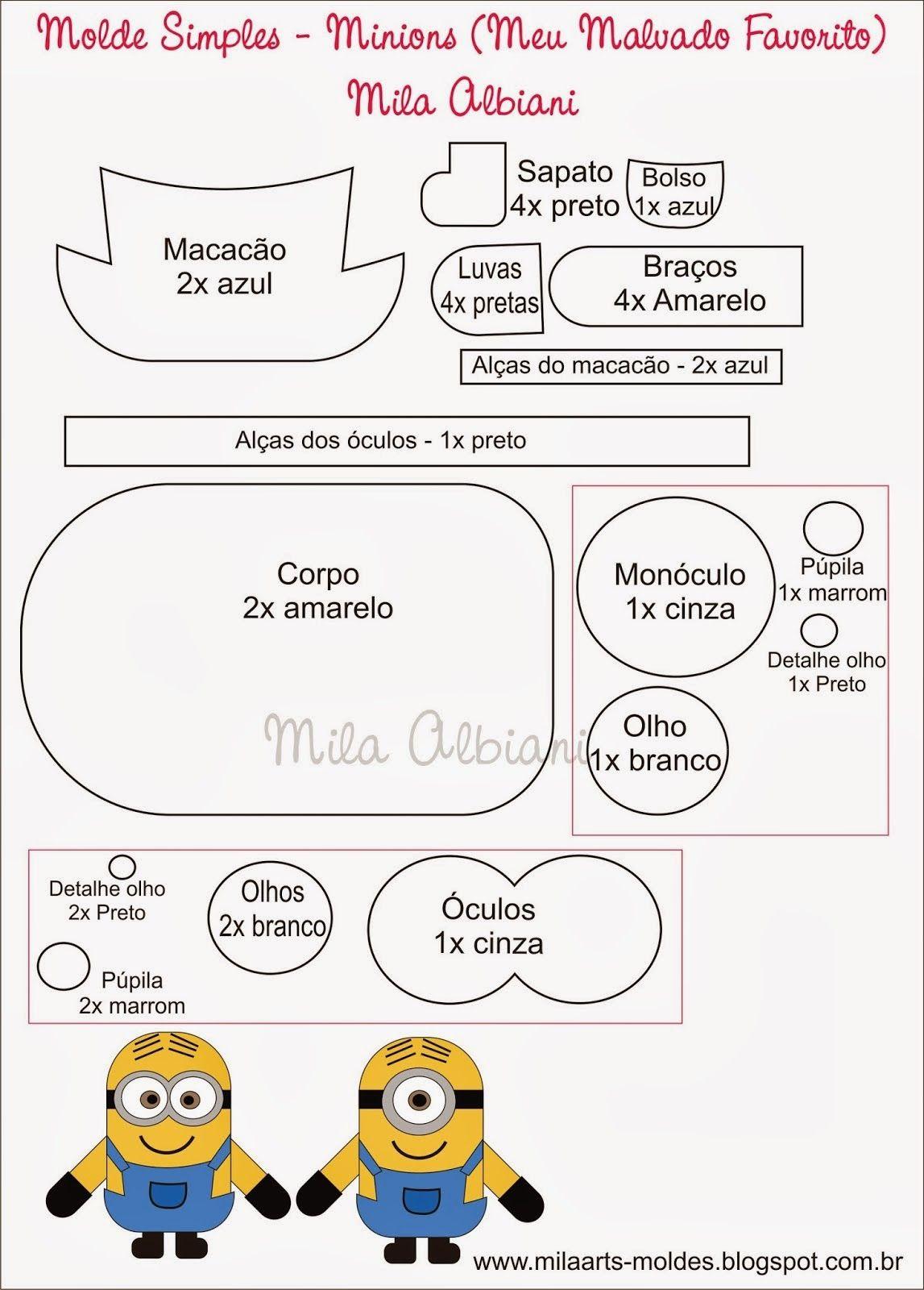moldes minion goma eva - Buscar con Google | Minion mánia ...