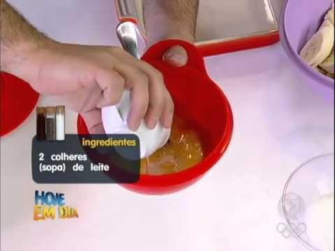 Torta Preguiçosa de Banana do Hoje Em Dia 20-07-2012 - YouTube