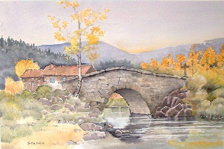 Peintre Sermet Peinture Paysages Provence Auvergne Fleurs