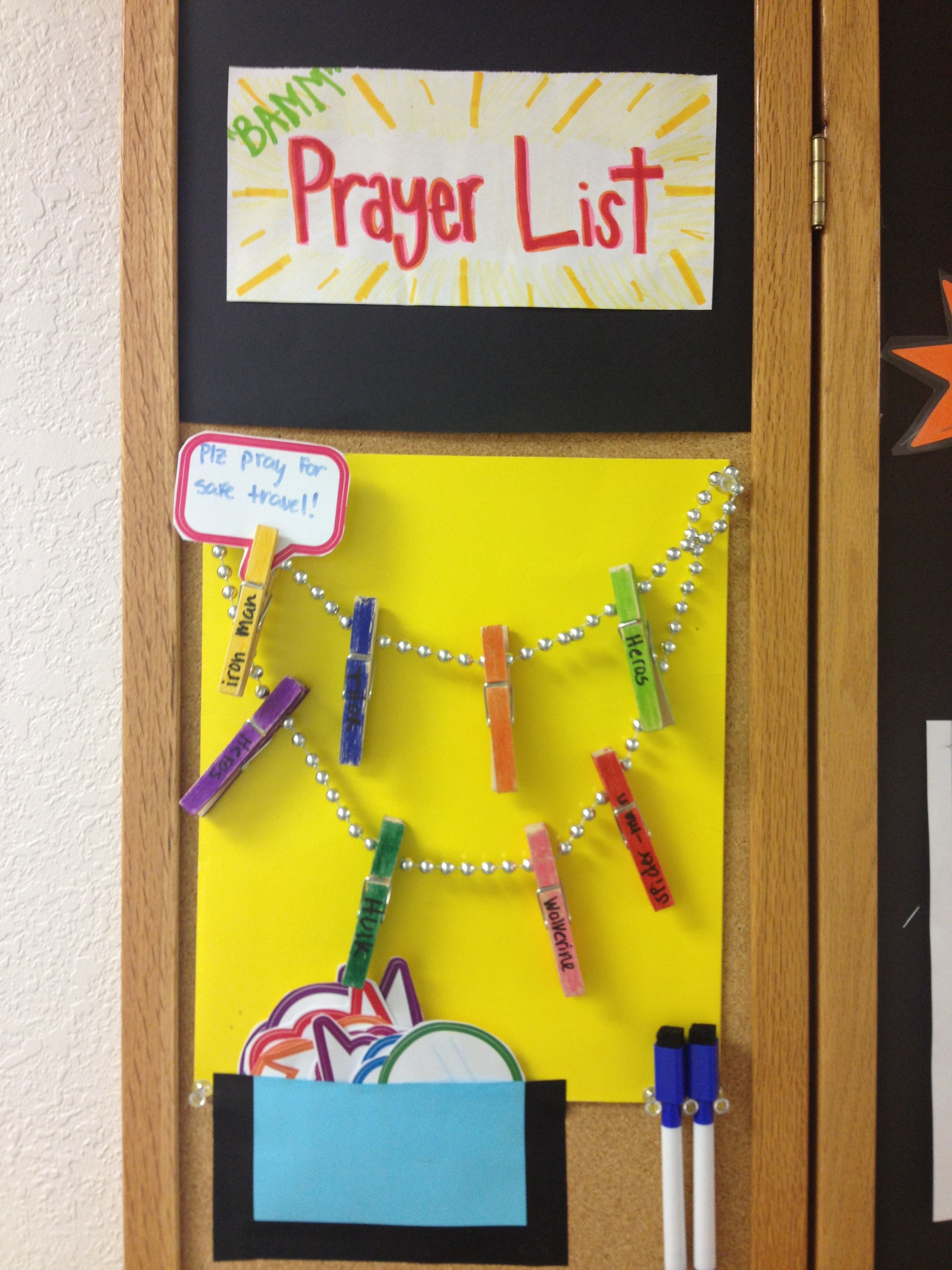 Prayer List For Hallway What A Beautiful Idea For Drawing