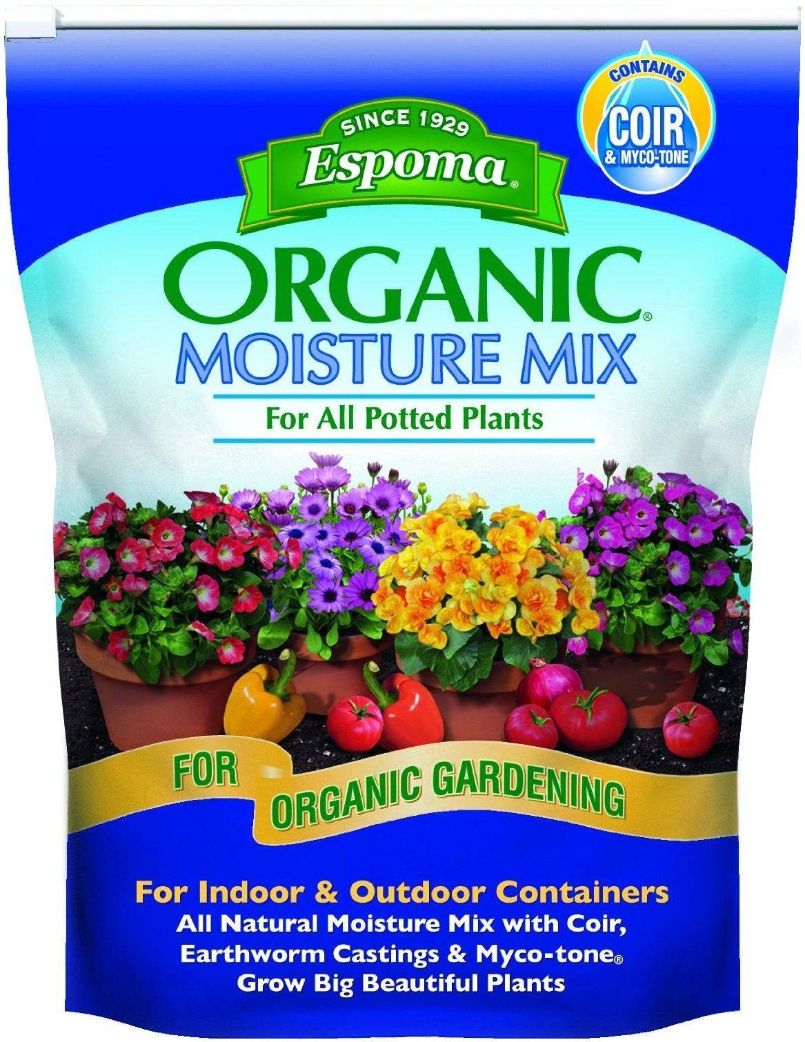 Espoma Mm8 Organic Moisture Mix Potting Soil 8 Quart Potting