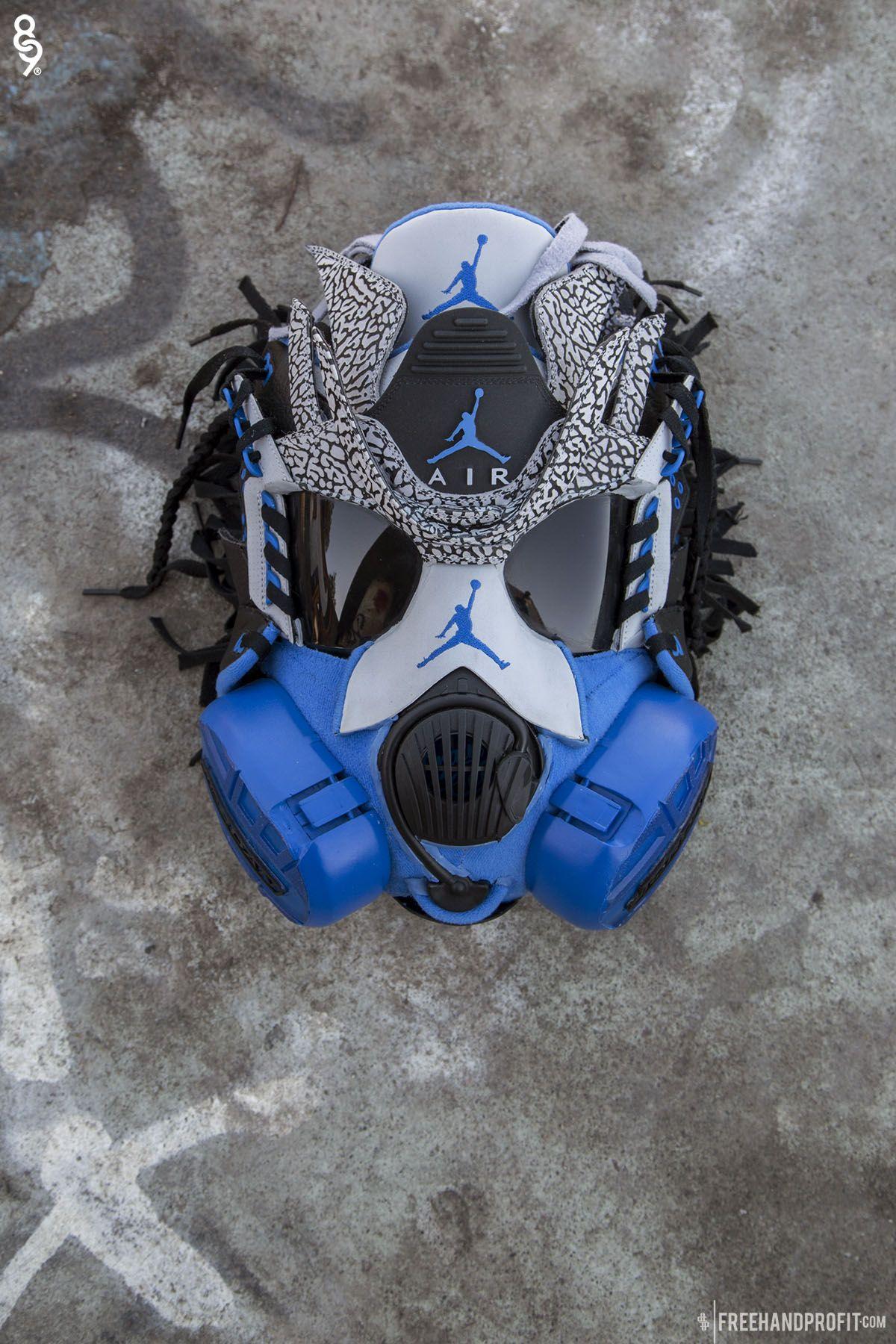 jordan sport blue 3 mask by freehand profit (2) Gas mask