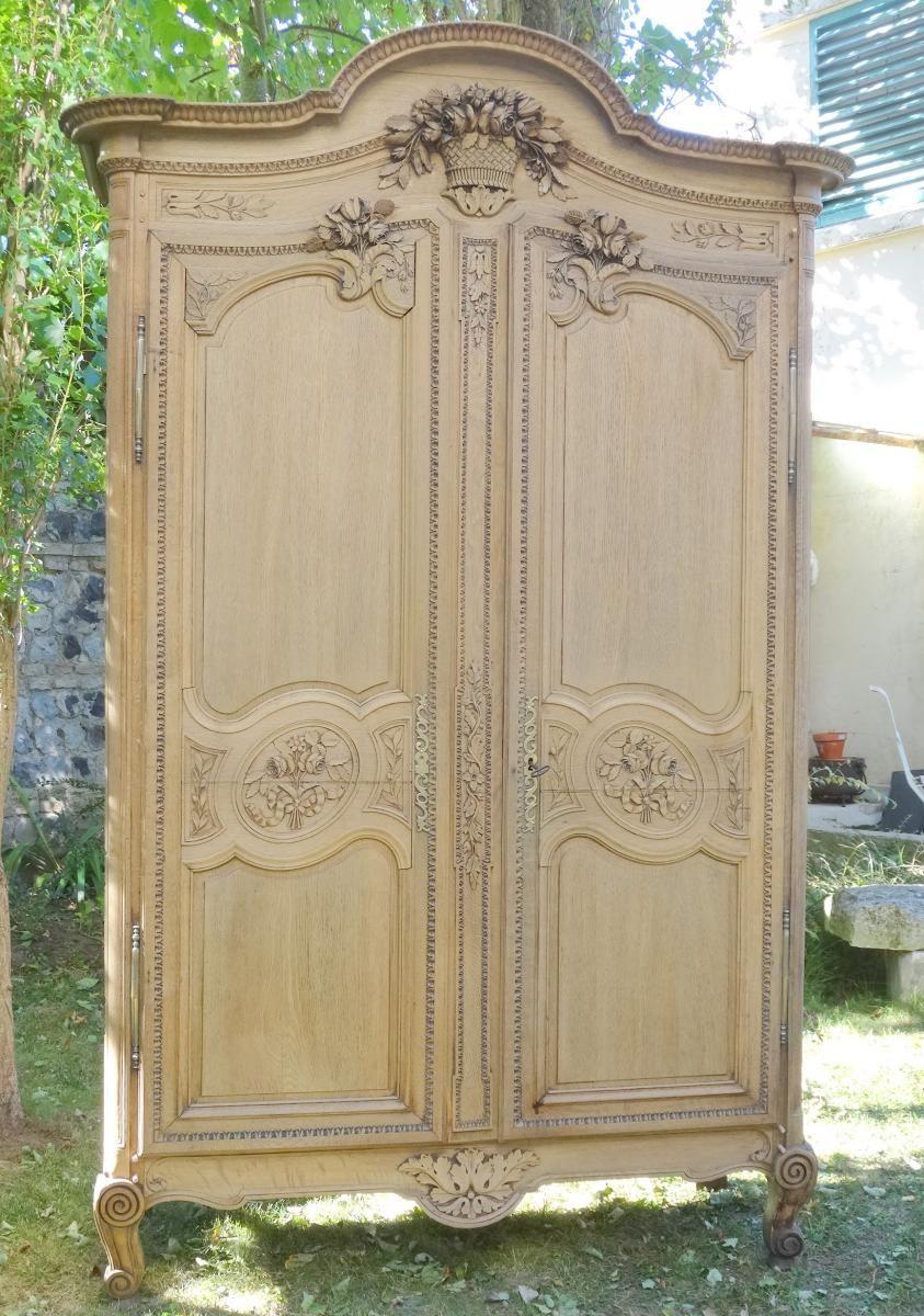 Armoire Normande Cauchoise De Mariage En Chene Sculpte Armoire