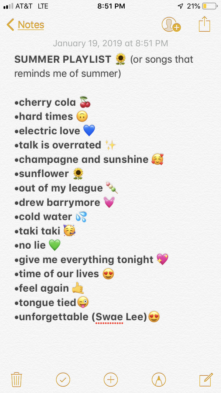 Summer Playlist Songs Summer Playlist Summersongs Songs Emoji Summervibes Vsco Outfits Quotes Hairstyle Song Playlist Summer Playlist Music Playlist