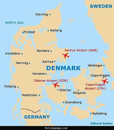 awesome Denmark Map Tourist Attractions Holidaymapq Pinterest