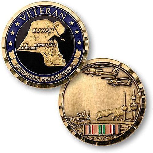 Desert Storm Veteran Custom Engraved Military Challenge Coin