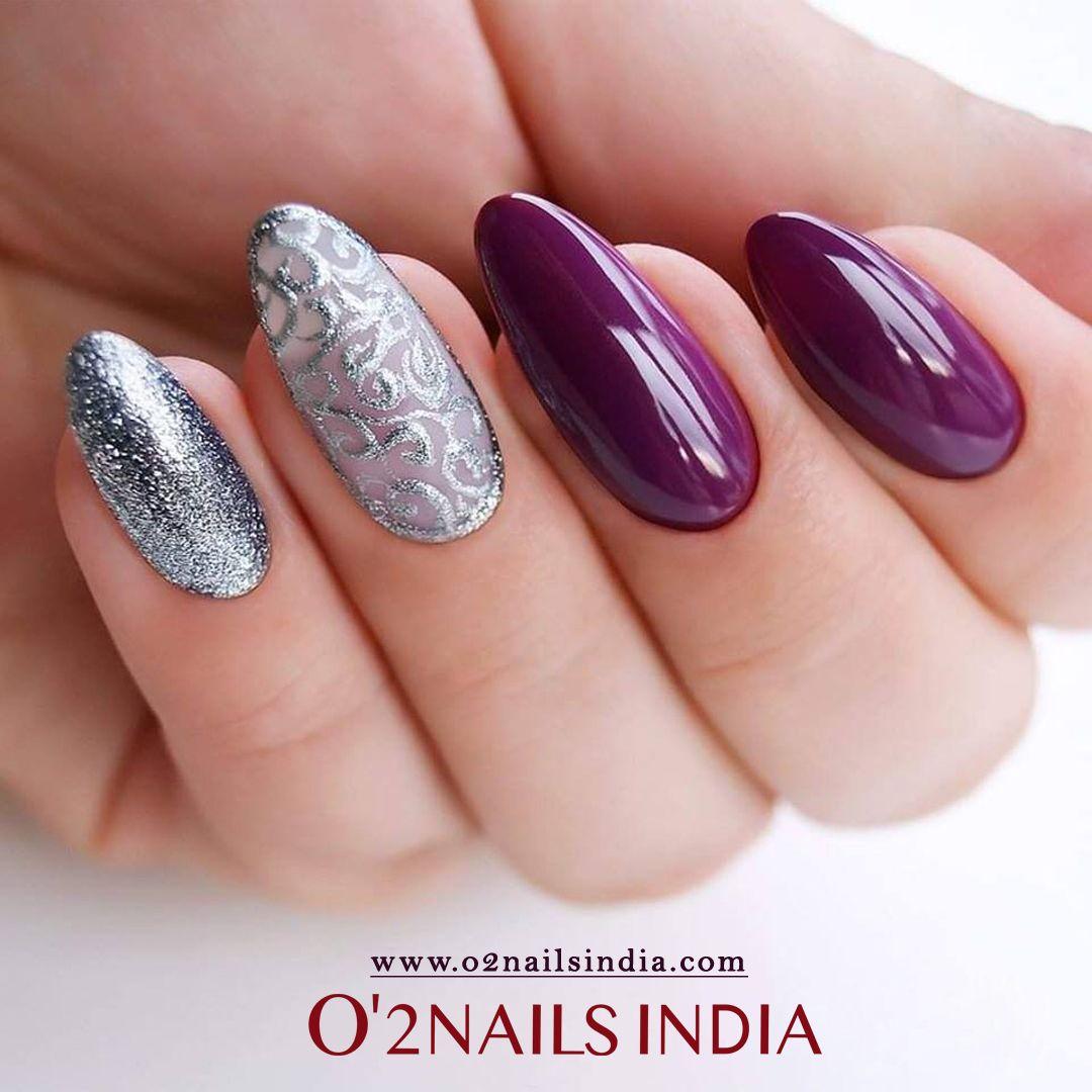 Transition Nail Colors Neutral Nail Mauve Nail Nails Gelish Nails Otono Boujee Nails Rosegold Nails Matalic Nails Sh Silver Nails Christmas Nails Magenta Nails